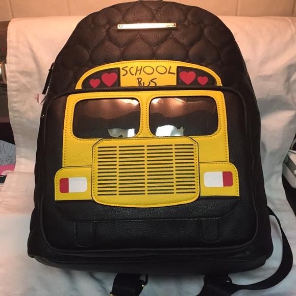 NWT Betsey Johnson school bus backpack! NWT